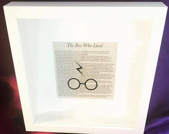 The Boy Who Lived Box Frame