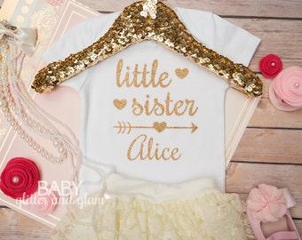 Little Sister Shirt, Big Sister Little Sister, Big Sis Little Sis, Baby Girl Shirt, Siblings Shirt