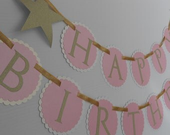 Twinkle Twinkle Little Star Birthday Banner