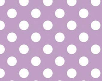 Dots Fabric - 1 Yard  Cut - Riley Blake Designs - Cotton Fabric - Lavendar  Fabric