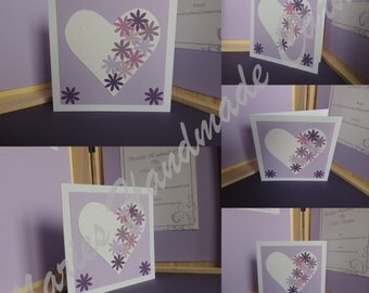 Purple Floral Heart