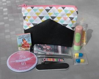 Small Kit in black leatherette for handbag - master gift idea