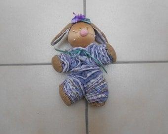 Soft Sculpture Yo Yo Bunny Doll, Fabric/Cloth Rabbit Doll, Fabric Toys