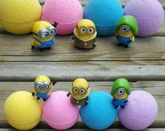 Kids Minions Surprise Bath Bombs, Minion Bath Bomb, Bath Bomb Gift, Minions Gift, Minions loot bag