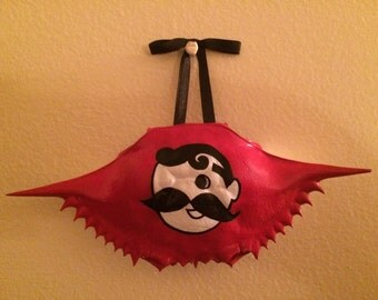 Natty Boh Hand Painted Crab Shell Ornament