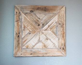 Reclaimed Wood Wall Art - Wood Wall Art - Abstract Sculpture