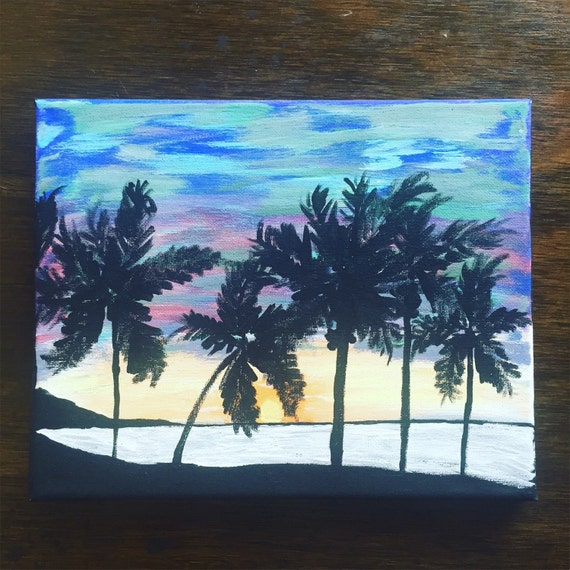 original canvas painting, beach painting, 8x10 acrylic painting