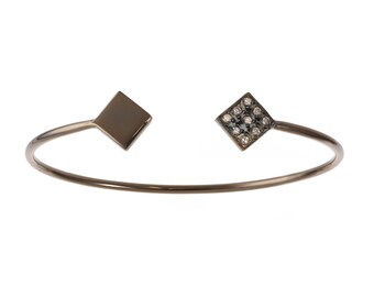 Blackened Silver Pave Bangle