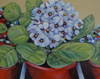 Blue Flowers- a print ready to frame