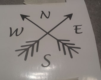 Compass Vinyl Decal