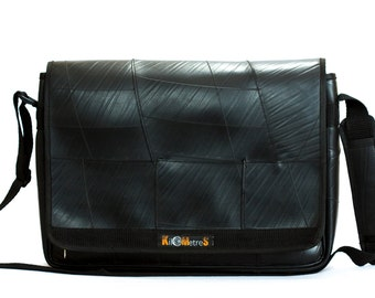Laptop Bag - School bag - Up-cycled from recycled inner tubes