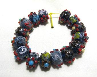1 Strand Handmade Glass Lampwork Beads (B57-13)