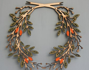 Large wooden wreath design No2