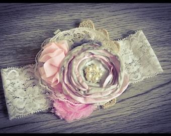 Two tone luxurious lace headband