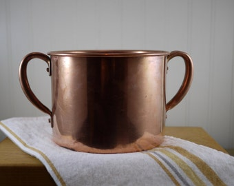 Old Colony, Two Handled Copper Pot, Made of Anaconda Copper - Rustic Copper Pot, Old Colony, Kewaskum