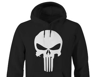Punisher Logo Hoodie, Punisher Hoodies, Punisher Hoodies, Marvel Punisher Hoodie, DareDevil Netflix Hoodie