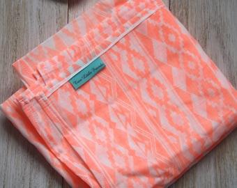 Pram/Capsule Blanket Orange Aztec