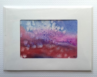 Original Watercolor Card - 067