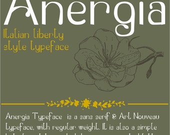 Anergia Typeface | Fonts | Liberty Style