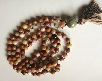108 bead mala necklace or bracelet