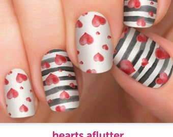 Hearts Aflutter Incoco Nail Wraps