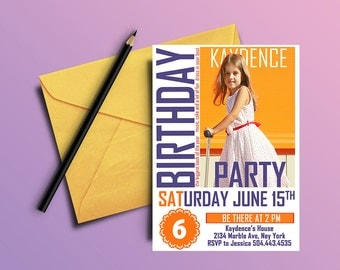 Magazine cover Birthday Invitation,  Styled Photo Invitations, Magazine Cover Birthday Invitation,  Magazine Birthday, Magazine Invitations,