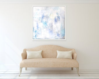Large Square Abstract Art Canvas