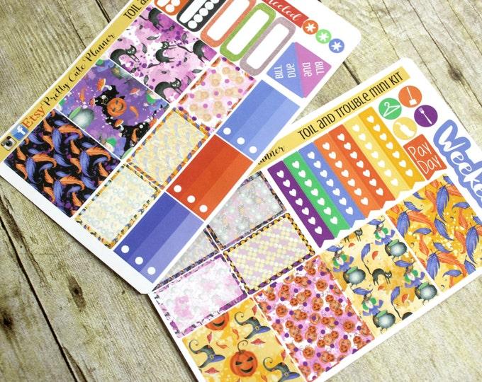 Happy Planner Stickers - Weekly Planner Sticker Set - Erin Condren Life Planner - Day Designer- Halloween Planner Stickers