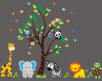 Baby Wall Decals Etsy - Nursery wall decals animals