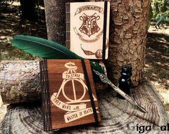 Wood Notebook Harry Potter - Deathly Hallows
