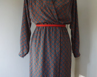 Vintage 1980s Secretary Dress / Vintage Liz Claiborne Dress