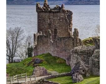 Poster, 20x30 inch, Urquhart Castle, Scotland, Fine Art Photography, Castles, Scottish Castles, Landscape Photography, Loch Ness