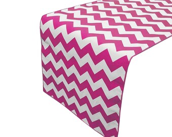 Zen Creative Designs Premium Cotton Table Top Runner Zig-Zag Chevron Fuchsia