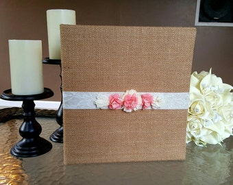 Wedding Planning Binder - Burlap, Coral & Cream Wedding Planner