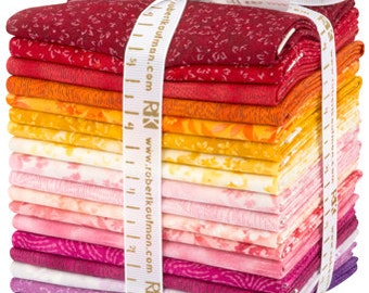 Courtyard Textures Studio RK WARM Colorstory Fat Quarter bundle for Robert Kaufman fabric