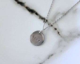 Personalised pebble necklace
