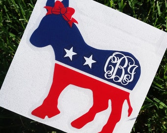 Republican Monogram Decal | Democrat Monogram Decal | Presidential Decal | Political Decal | Custom Monogram Political Decal | Car Monogram