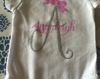 First Initial and Name Onesie