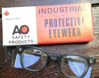 Vintage AO Safety Glasses