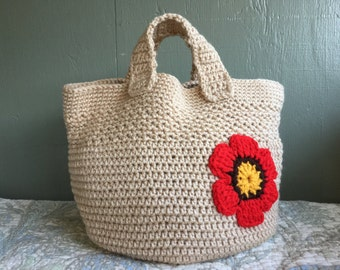 crochet bag sand beige