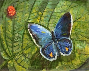 Butterfly. Size 90*120. Canvas, oil.