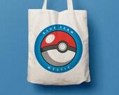 Tote bag Pokemon Go, Blue team, Mystic, pokeball, dust bag, geek, shopping bag