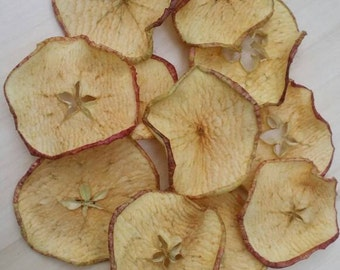12 slices of dried apple. Baking floristry