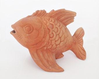 Antique Terracotta figurine fish - 40s