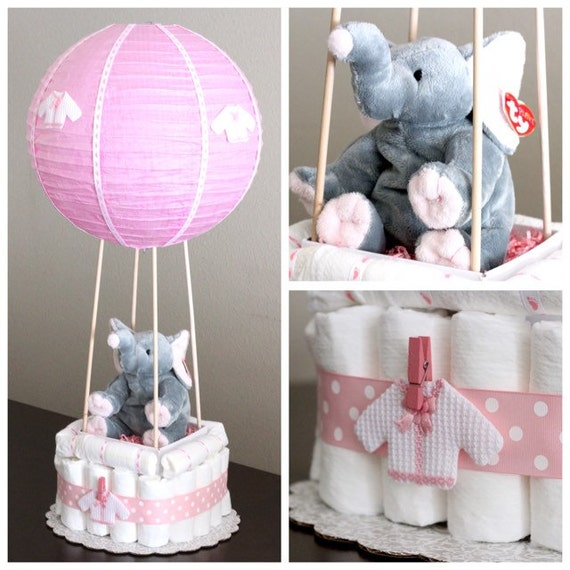 Items similar to hot air balloon diaper cake on etsy