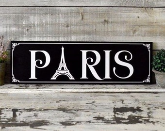 "24""x7"" Paris Theme Wall Decor"