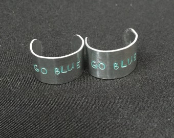 Go Blue Metal Ring