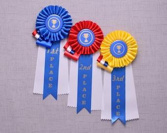 Custom Contest  Award Set, Rosette Award Ribbon, Custom Award,  Dog, Equestrian, Event, Fair, Co-Worker Prize, Birthday Party Prize