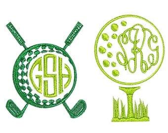 Golf Embroidery Design Frames