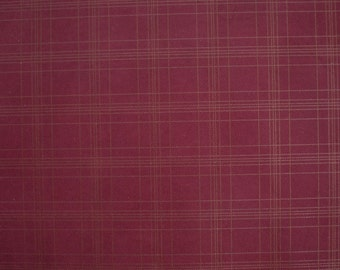 Wine Gold Leather Hide Italian Genuine Gingham Leather Dark Red Golden Hide 0,5-0,7 mm Thickness Hide Checked Pattern 60cm x 50cm Hide b30